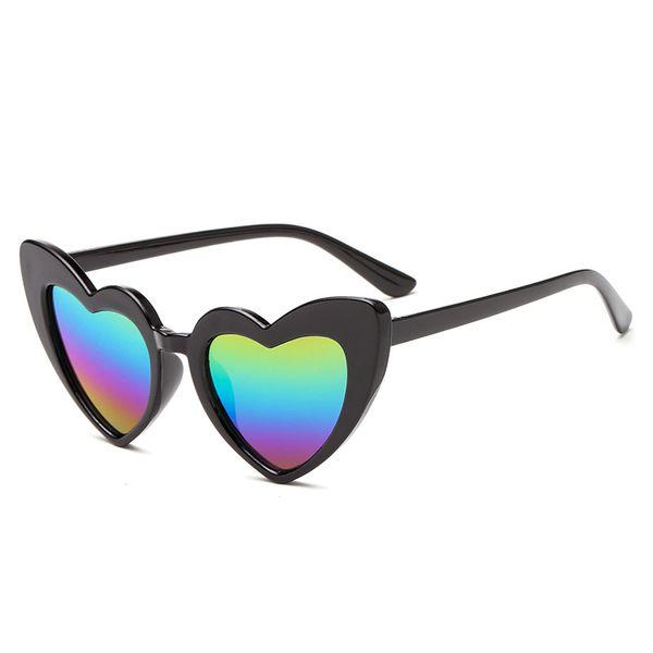 Kids Sunglasses 2019 New Ins Fashion Heart Shaped Adumbral Cute Designer Frame Eyewear Baby Girls Sunglasses Beach Sun Glasses
