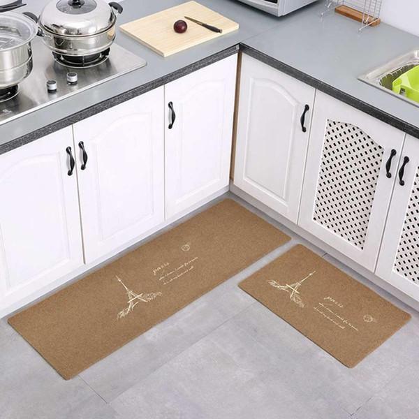 Wasserdichte Polyester rutschfeste Eingang Fußmatte Bodenmatte Küche langen Teppich Korridor Teppich Haustür Eintrag lustige Matten