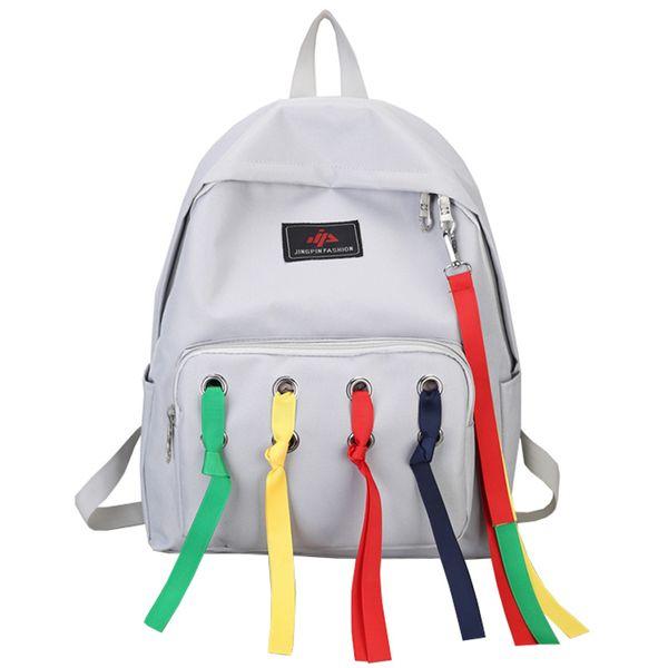 Разноцветные ленты с воздушными отверстиями Дизайн нейлоновый рюкзак сумка Популярная сумка для девочки