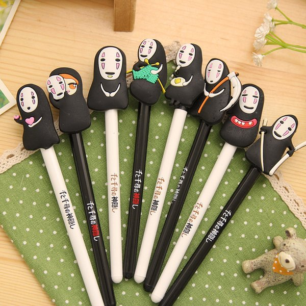 no face 8pcs/lot Spirited Away action figure toys No Face Man 8 different expressions model pens for children students boys girls gift