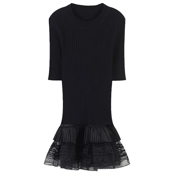 SRUILEE Casual Ruffles Suit Summer Slim Elegant 2 Piece Set Women Suit Mesh Camis Crop Top Knit Runway Outfit Bodycon Sweet