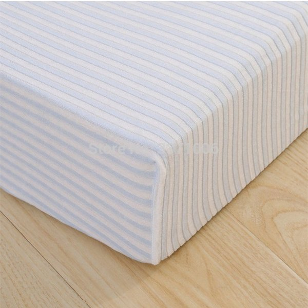 New baby bed sheets knitted striped velvet bed Cirb Fitted sheets mattress pad baby products oval cover mattress covers