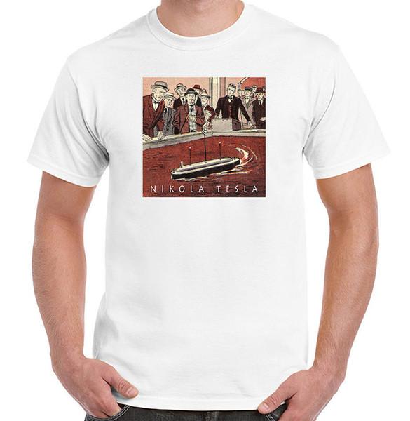 First Remote Control Boat, RC, Nikola Tesla, Mens, Ladies, Youth Styles, NWT Funny free shipping Unisex Casual Tshirt