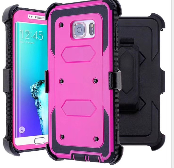 For Samsung S6 EDGE PLUS S7 S8 S9 PLUS Heavy Duty Shockproof Holster swivel Belt Clip Rotatable Kickstand Defender Cover CASE Free DHL