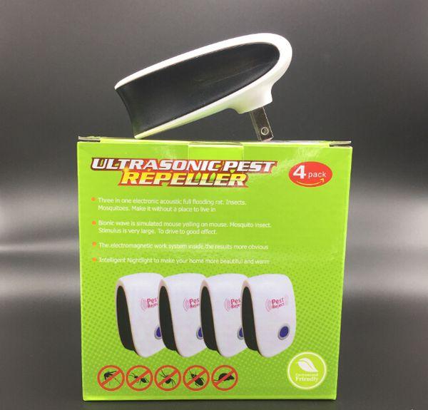 4 adet / takım Gelişmiş Sürüm Elektronik Kedi Ultrasonik Anti Sivrisinek Böcek Kovucu Sıçan Fare Hamamböceği Haşere Kovucu Kovucu Reddetmek