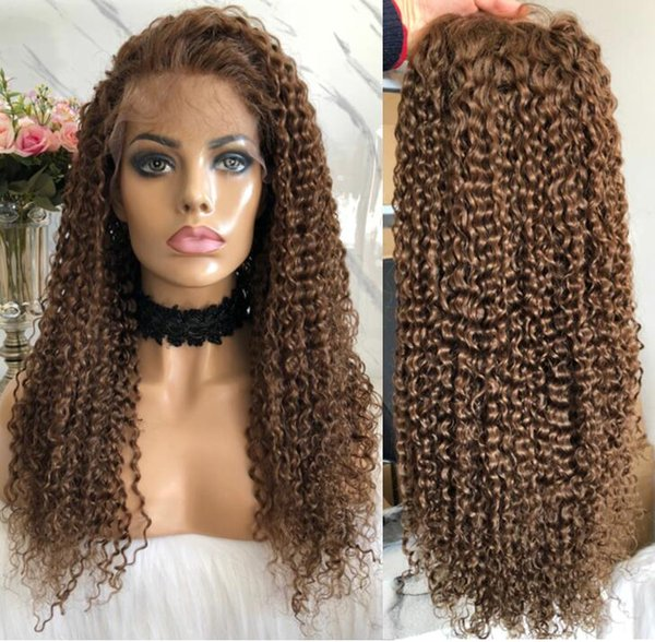 Full Lace Wig High Quality Brazilian Virgin Human Hair Natural Color Lace Wigs Celebrity Wig Body Curl Front Lace Wigs Free Shipping
