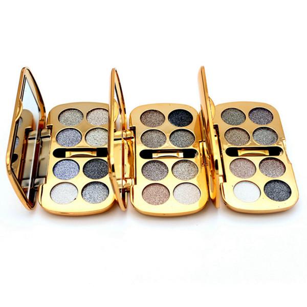 Hot 8color Diamond Bright Colorful Eye Shadow Palette Shining Glitter Eyeshadow Palette Makeup Cosmetic Brush Set Tool