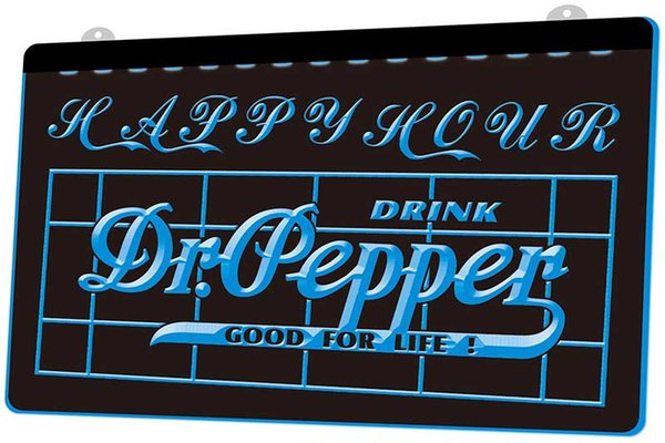 LS776-b-Dr-Pepper-Drink-Happy-Hour-Bar-Neon-Light-Sign.jpg Decor Free Shipping Dropshipping Wholesale 8 colors to choose