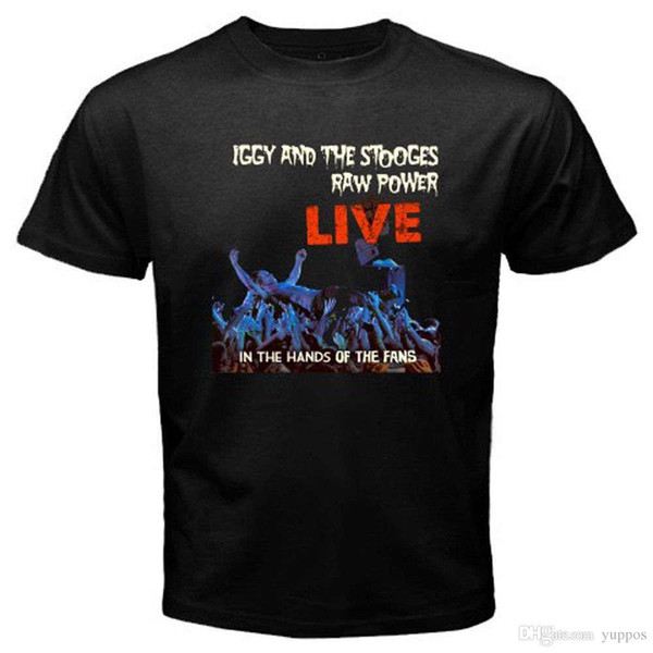 New Iggy and The Stooges Live Raw Power Rock Band Men's Black T-Shirt Size S-3XL