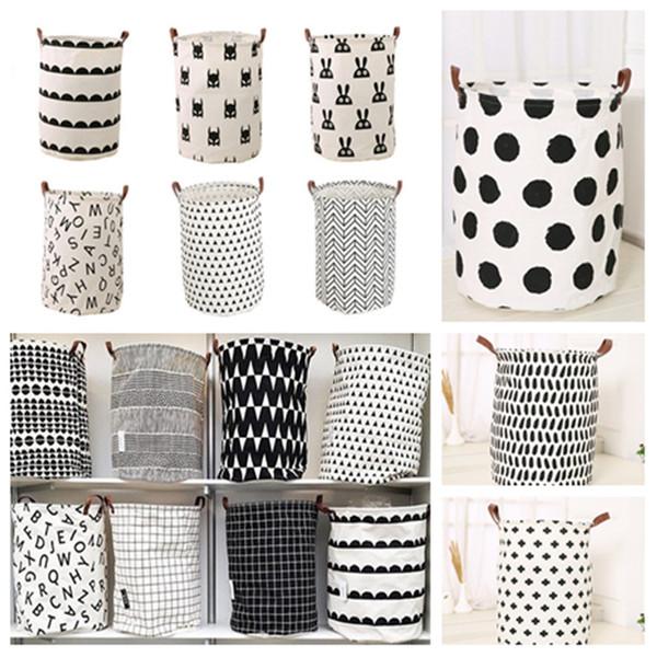 best selling fashhion INS printing Laundry basket Toy storage basket cartoon Handbags Kids Toys Dirty clothes basket 40*50cm Housekeeping T2I5346