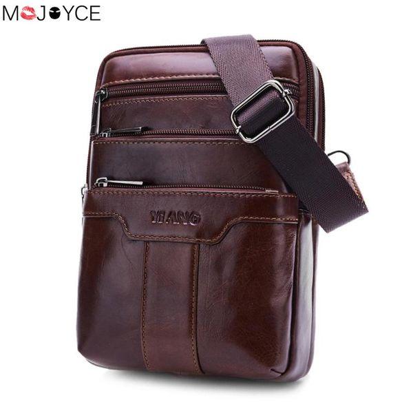 Casual Soft Leather Shoulder Bags for Men Famous Brand Solid Male Messenger Crossbody Bag Business Fashion Chest Bag bolsa