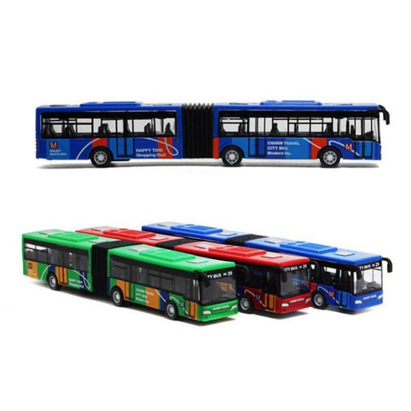 18 cm de Metal Infantil Diecast Model Veículo Ônibus Ônibus Carros Brinquedos Pequeno Bebê Pull Back Toy Presente para Crianças Crianças Menino Presentes de Natal
