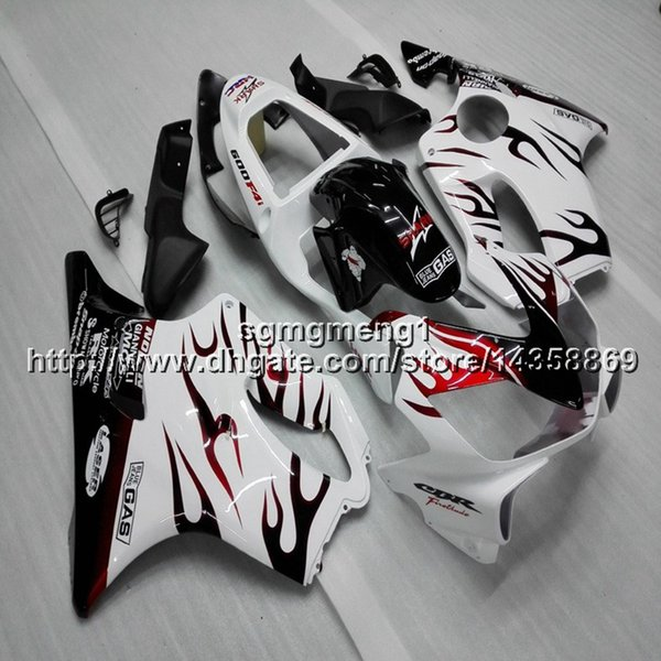 Gifts+Screws Injection mold red flames motorcycle Fairing hull for HONDA CBR600F4i 2001-2003 F4i 01 02 03 ABS motor panels