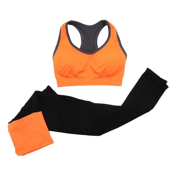 2Pcs Women Seamless Sports Bra+Pants Leggings Set Yoga Fitness Workout Tracksuit #328384