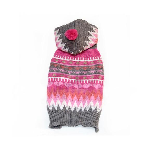 Inverno Nuovo anno Moda Pet Vestiti Tenere caldo Cane Abbigliamento Piccolo cane maglione maglia con cappuccio Costume di Natale per cucciolo XXS-L