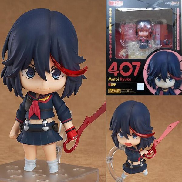 с коробкой KILL la KILL цифра Matoi Ryuuko # 407 Nendoroid ПВХ Фигурки Игрушка Модель 4
