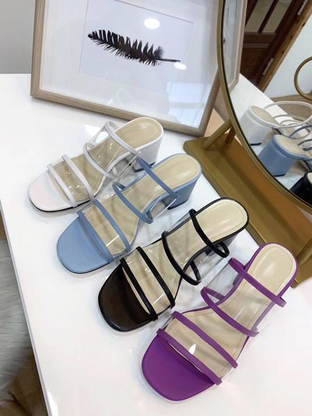 Sexy Women slippers High Heels Summer ladies Beach Slides Transparent Crystal Shoes Fashion Sandals Slippers flip flops
