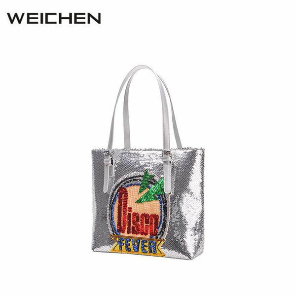 Designer Tote Bags For Women Nice Luxury Squine Silver Letter Girl Cross Body Bags Sac A Main Lady Handbags Female Totes