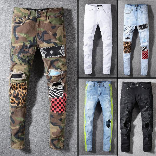 2019 top qualität berühmte marke designer jeans männer mode street wear herren biker jeans mann hosen Aup