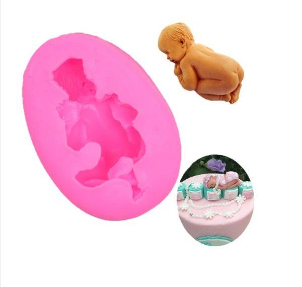 3d schlaf baby handgemachte silikon seifenform schokoladenkuchen backen dekorieren tools diy cookies fondant silikonform form
