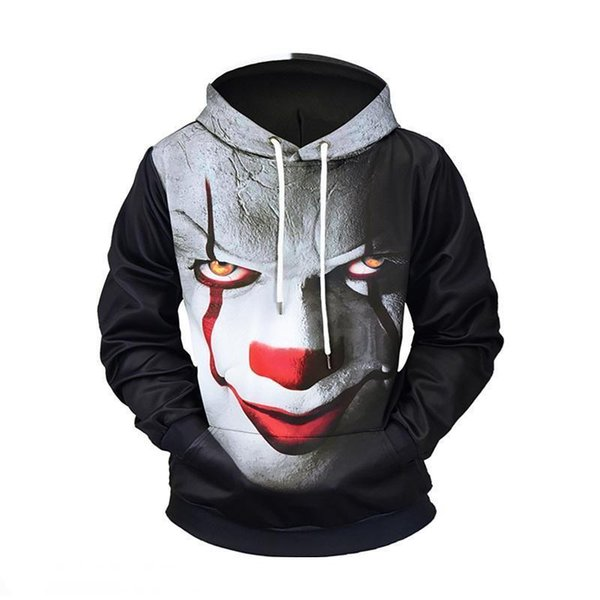 Free shipping brand designer hoodie fashion trend luxury men's sweater 3D handsome print loose casual hooded sweater European size M-3X