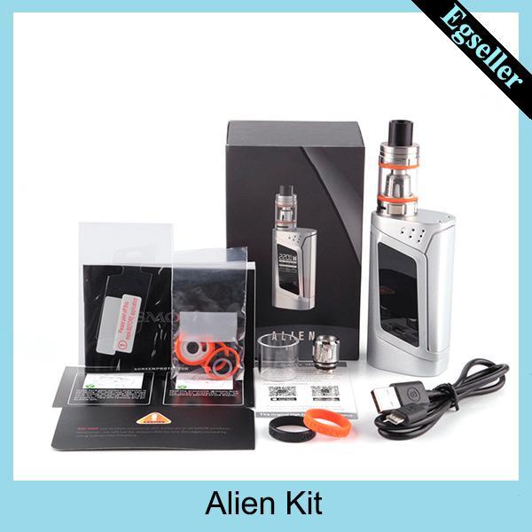 Alien Starter Kit 220W Alien Box MOD 3ml TFV8 Baby-Panzer mit 0,4 Ohm 0,15 Ohm Core Alien Kit 0268047-1