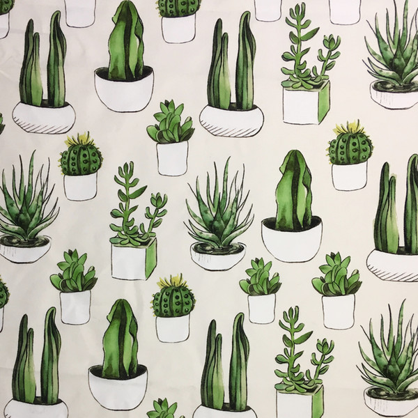 Handcraft Cloth Desert Plants Cactus Digital Print Chair Sofa Woven Home Deco Decorative Curtain Garment Pillow Fabrics 140cm Sell by meters