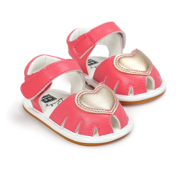 Cute Lovely Baby Sandals Baby Clogs Cute Soft Bottom Non-slip Princess Shoes Girls Love Kids Shoes