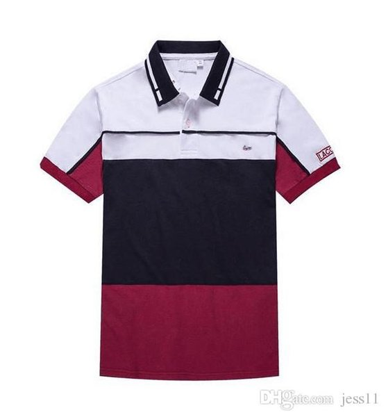 Lässige Trend Baumwolle POLO Shirt neue Sommer Must-Have passende Farbe Bottom Coat Herren Halbarm M-2XL Größe