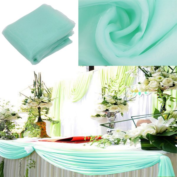 reen organza fabric Size10m x1.35m mint green organza fabric curtain, wedding party table curtain,christmas neccessary ,factory price fa...