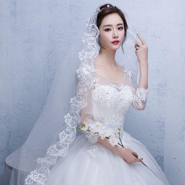 2019 Yüksek Kalite İlkbahar Yaz Beyaz Düğün Peçe Kısa Gelin Peçe Kristal Boncuklu Peçe Düğün Aksesuarları