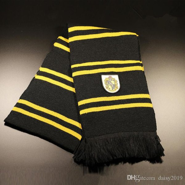 Harri Potter Cosplay Scarf Gryffindor Slytherin Hufflepuff Ravenclaw Scarves Costumes Gift 70% fiber 30%wool