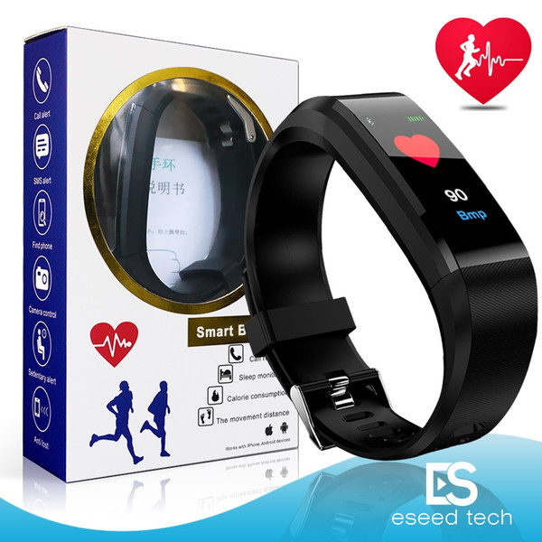 best selling ID115 Plus Smart Bracelet For apple watch Color Screen Fitness Tracker Band Heart Rate Blood Pressure Smart watch Wristband