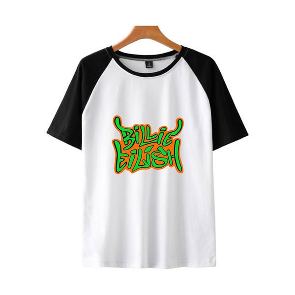 Hommes Billie Eilish Style décontracté T-shirts manches courtes Hip Hop Harajuku Vêtements Femme 2019 Kawaii Imprimer T-Shirts Tops Manches Courtes