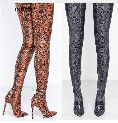 Solid Color Hollow Sexy Knee Boots Sandals Sexy Sandals