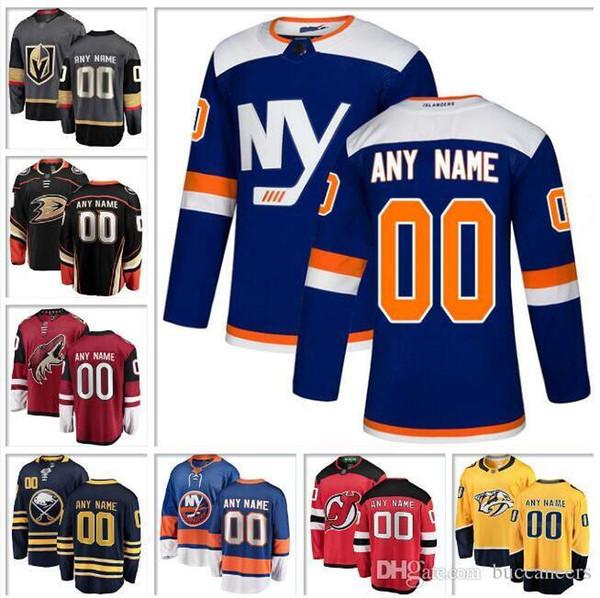 Пользовательские НХЛ хоккей Джерси Нью-Йорк Айлендерс Рейнджерс Джерси Девилс Баффало Сейбрс Нэшвилл хищники Анахайм утки хоккей трикотажные изделия оптом