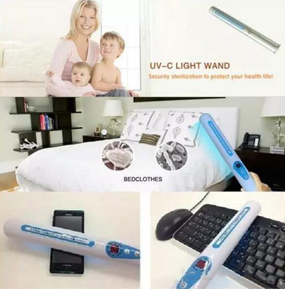 Traveling Sterilizer Portable UV Sanitizer Hand Wand Ultra Violet Light Kill Bacteria Germ Sterilizer with Retail box
