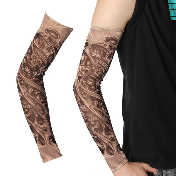 New Fashion Fake Tattoo Arm Sleeves Unisex UV Protection Outdoor Temporary Fake Tattoo Arm Sleeve Warmer Sleeve Mangas HJ98