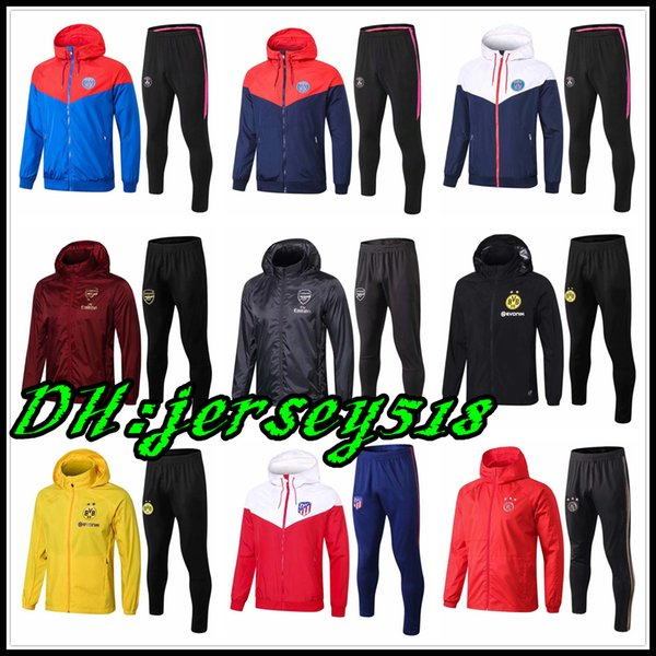 18 19 real madrid france tracksuit Hooded jacket Ajax Manchester United juventus Bayern Munich football Borussia Dortmund psg Paris HOODIE