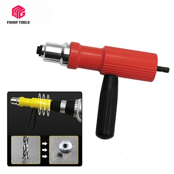 Adaptador de remachado Tire fghgf eléctrico de tuercas Herramienta de conversión de inserción pistola Power Set Taladro Remachador de la mano de accesorios de uñas