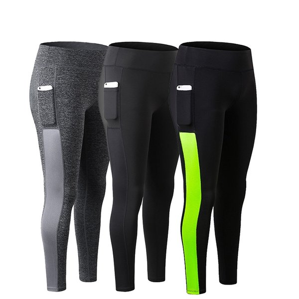 Spots Yoga Pants with bag Night Running Pants Trousers Breathable Quick Dry Fitness Tights Sport Yoga Leggings For Girls #278531