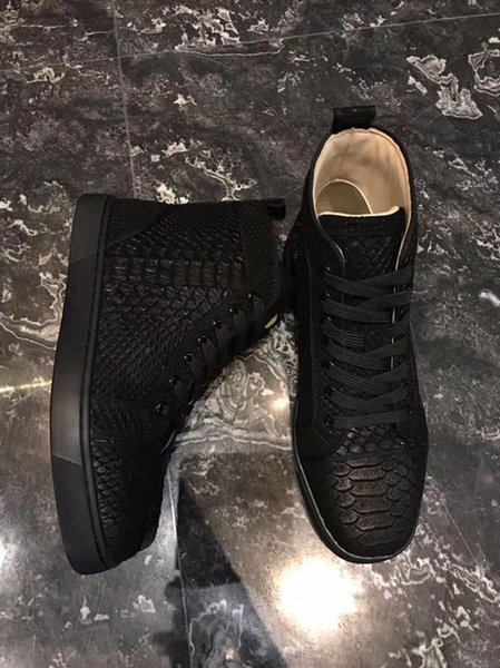 Fashion Luxury Shoe High Quality Mens Women Red Bottom Designer Sneakers Nice Lovers Sequin Leather Trainer Casual Flats Shoes