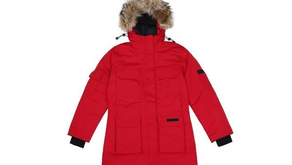 2019 Erkek Tasarımcı Palto Aşağı Ceket Kanada Marka Mat Aşağı Erkek Açık Tüy Hiver'de Doudoune Kış Coat Dış Giyim Boyut S-XXL Isınma