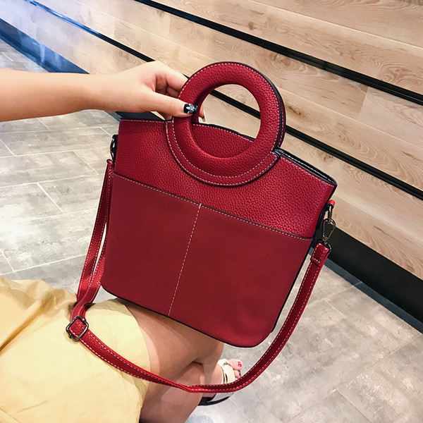 Designer-China Fashion Plain Tote bags Purse Female Artwork Bucket Bags Ladies Cross body Shoulder Strap bags Sac Huanlemai//9