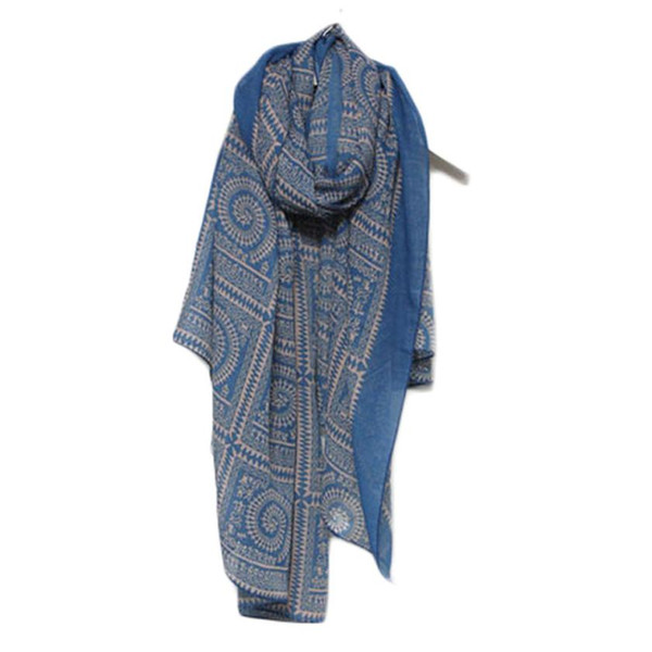 Circle lattice cotton scarf autumn and winter women Lady Women Vintage Long Soft Printed Scarves Shawl Wrap Scarf Trendy