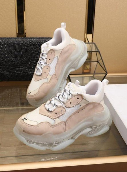 cheap for discount 3c1b4 05a00 2019 Designer Shoes Newest Rare NO.1Balenciaga Triples Pink White And Black  Scarpe Uomo Donna Unisex Dal Trainer Sneaker With Box Vegan Shoes Comfort  ...