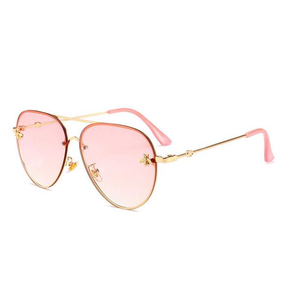 Toptan-Marka tasarım Güneş kadınlar erkekler retro Marka Tasarımcısı İyi Kalite Moda metal Boy güneş gözlüğü bağbozumu kadın erkek UV400