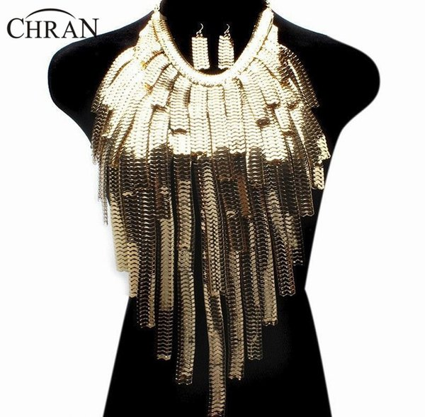 Chran Stunning Sexy Body Belly, Waist, Women Lady Tassel Choker Necklace Gold Chain Necklace Party Evening Dress Decor Ddby251 MX190730