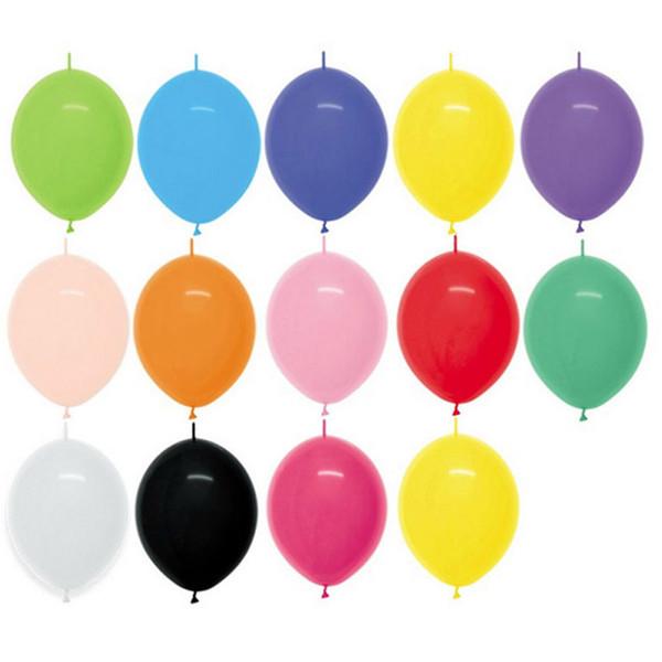 100pcs / lot Lien Ballons 6inch Décorations De Fête De Mariage Queue Ballon Maison Jardin / événement Fournitures De Fête / mariage Room Decor Y19061704