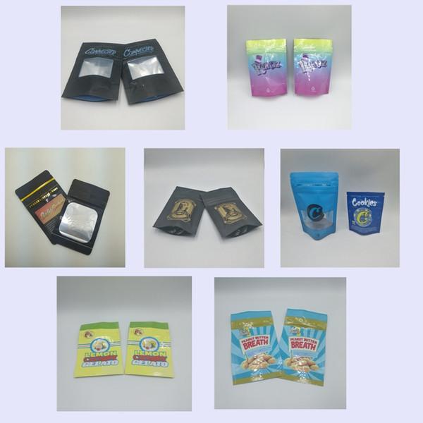 top popular Billy Kimber OG Mylar Bags Custom Printed Runtz Jungle Boys Cookies Connected Lemon Cherry Gelato Packaging Bags Zipper Lock Smell Resistant 2020
